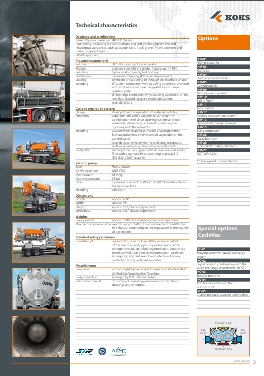 koks cyclovac options brochure